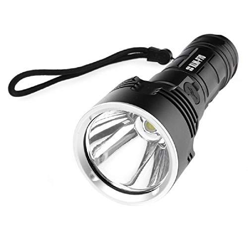 Linterna de bolsillo, LED, recargable, 5000 lm, ultra potente, con 3 modos, para camping, senderismo, deportes al aire libre (pilas 18650 incluidas)