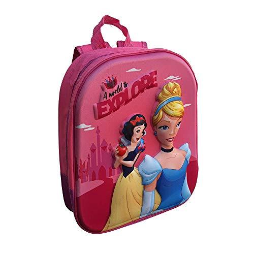CARTOON GROUP Zaino Asilo 3D Principesse Disney Biancaneve Cenerentola Borsa Scuola CM.32 - PR0636