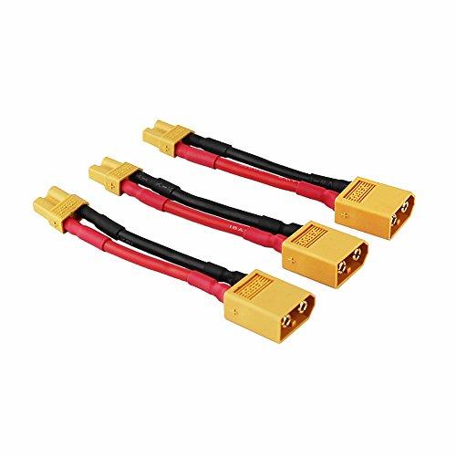 OliYin 3 stücke Männlichen XT-60 zu Weiblich XT-30 Stecker Adapter XT30 XT60 FPV Kabel 16awg 1,96 Zoll (Packung von 3)