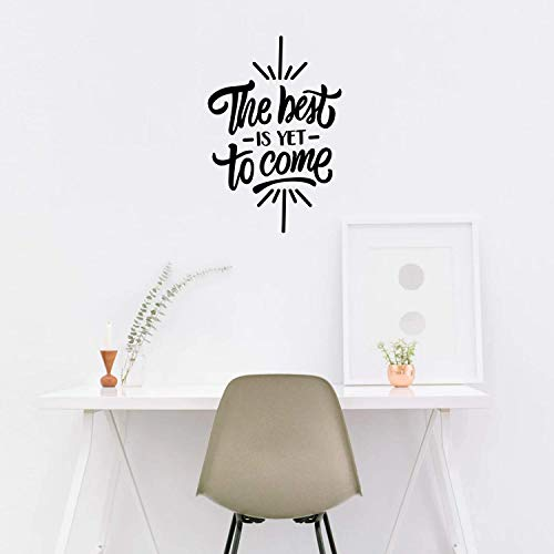 "Vinyl Wall Art Decal - The Best is Yet to Come - 25"" x 17"" - Motivational Life Quote for Home Apartment Bedroom Living Room Office Workplace Classroom School Decor"