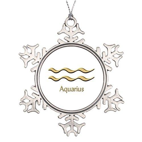 Cukudy Gepersonaliseerde kerstboom decoratie Weegschaal familie Kerstmis Sneeuwvlok Ornamenten Stier Waterman symbool
