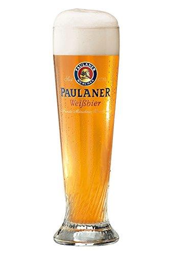 Bavariashop Paulaner Weizenglas 0,5 Liter, Weißbierglas mit Paulaner Logo