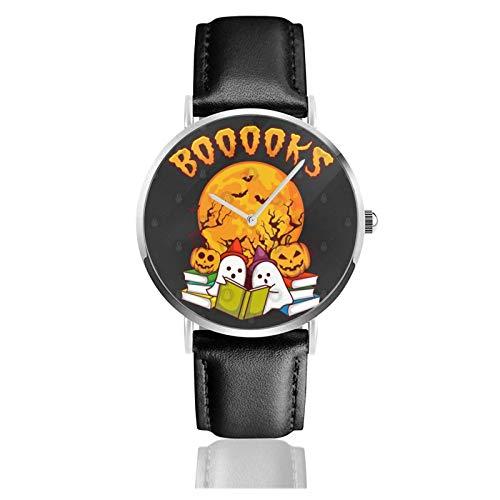 Relojes Anolog Negocio Cuarzo Cuero de PU Amable Relojes de Pulsera Wrist Watches para Halloween