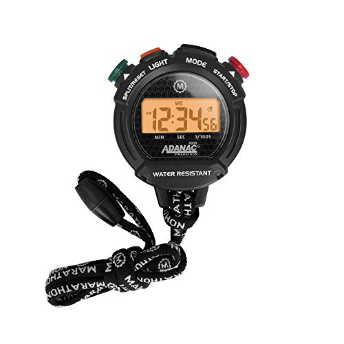 Adanac Professional Stopwatch Timer - Digital Blacklight...