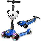 Monopattino Kids Scooter Bambini 2 a 12 Anni 3 Ruote con Ruote Lampeggianti in LED...