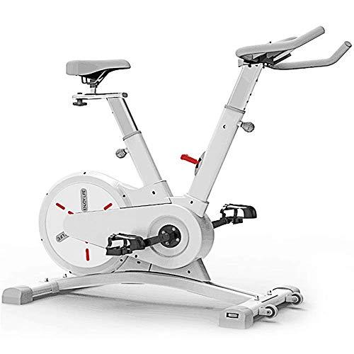 Bicicletas estáticas La bicicleta estática vertical ultra silenciosa para interiores es adecuada para el gimnasio en casa en el interior con carga aeróbica 120 KG Blanco Negro (Deporte de interior)