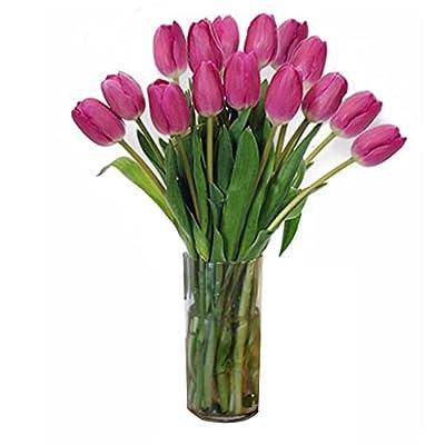 Stargazer Barn Pretty in Pink Tulips-Farm Direct Pink Tulips with Vase, 15 Count (S318X20915) by Stargazer Barnst1fa -- Dropship