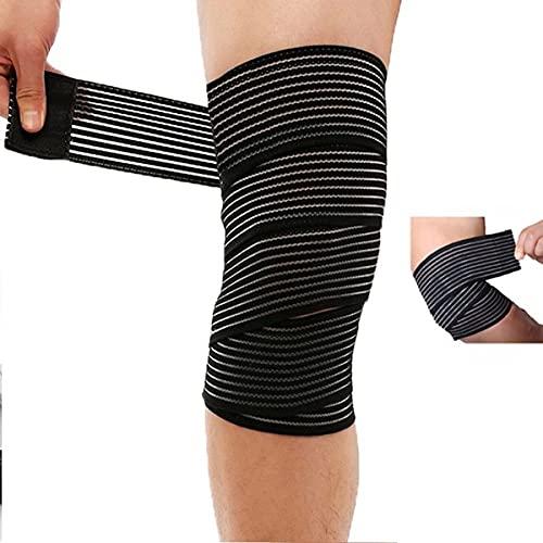 Ginocchiera uso sportivo ad alta compressione - tutore ginocchia -legamenti rotula rotulea - fascia elastica ginocchio per rotula e menisco con chiusura a strappo regolabile.