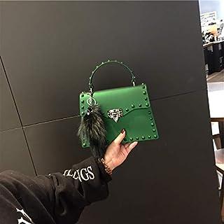 Adebie - Fashion Jelly Women Handbags Lady Brand Designer High Quality Shoulder Crossbody Bags for Girl Cute Luxury Rivet Small Tote Bag S Green []