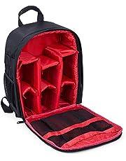 Waterproof DSLR Camera Bag Shockproof Backpack Hiking Bag-Red