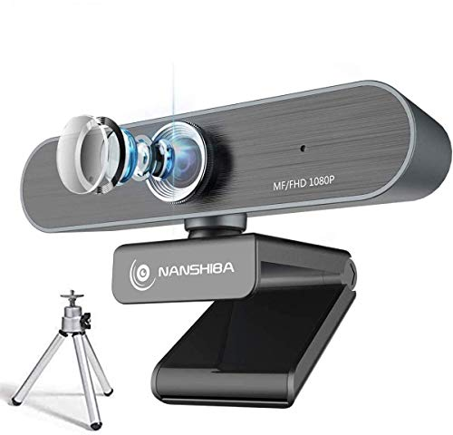 Webcam with Microphone Full 1080P Computer CameraUSB Web Cameras for Desktop PC Laptop Manual Focus Streaming Webcam for Video Calling and RecordingYouTubeSkype 90 Extended Viewing Angle