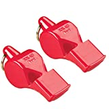 Fox 40 Pearl Whistle, Referee, Safety Alert, Dog, Rescue, Outdoor-Red (2-Pack)