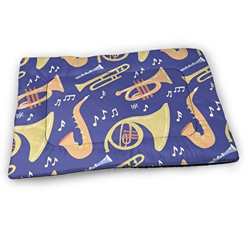 XUJT11O Saxofoon en muziek huisdier hond bed mat zachte antislip kennel pad verkrijgbaar in meerdere stijlen maten