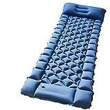 QWSA Al Aire Libre para Viajar inflar la Estera de Camping con Almohada para Dormir Almohadilla para Dormir Inflable (Color : A Blue, Size : 192x66x6cm)