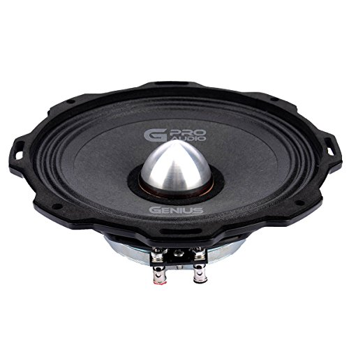 "Genius GPRO-M0865 6.5"" 300 Watts-Max Midrange Neodymiun Car Audio Speaker 4-Ohms Paper Cone"