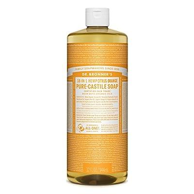 Dr. Bronner's Magic Soaps 18-In-1 Hemp Citrus Orange Pure Castille Soap, 32-Ounce Bottles (Pack of 2) by Dr. Bronner's