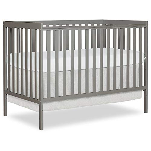 Dream On Me Synergy 5-in-1 Convertible Crib in Cool Grey, Greenguard Gold Certified