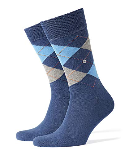 Burlington Herren Socken Manchester, Baumwolle, 1 Paar, Blau (Blueb.Peel 6220), 40-46 (UK 6.5-11 Ι US 7.5-12)