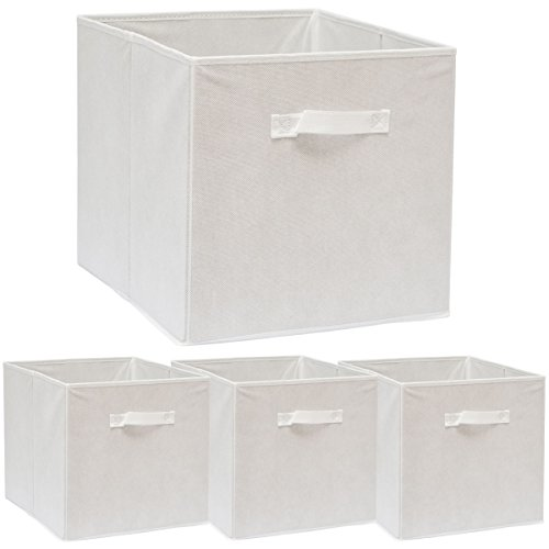 DuneDesign Set de 4 Cajas de Almacenaje 33x38x33cm Cestas de