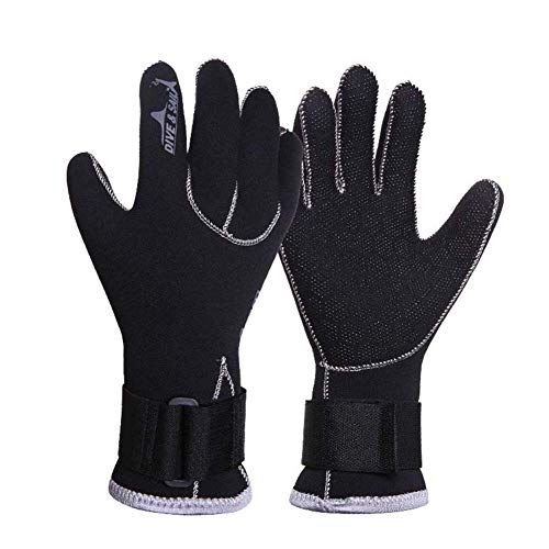 seawood 1 Paar 3mm Neopren Tauchen Handschuhe Surfen Schnorcheln Schwimmen Equippment Atmungsaktive Tauchhandschuhe S