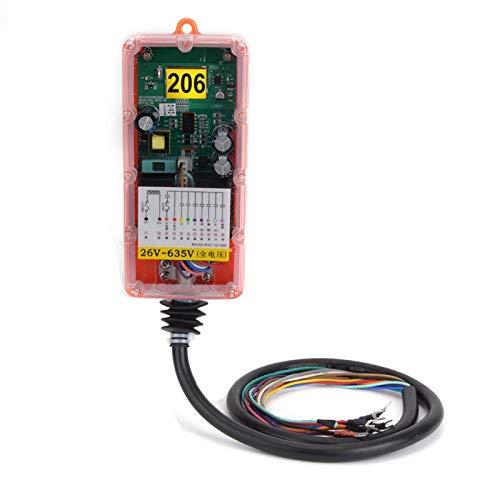 Mxzzand Interruptor remoto industrial inalámbrico remoto inalámbrico inalámbrico para camiones de bomba de hormigón para grúas hidráulicas (26V-635V)