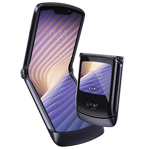 "Motorola razr 5G Dual-SIM Smartphone (6,2""-HD-pOLED-Display/Externes 2,7-gOLED-Display, 48-MP-Quad-Pixel-Kamera, 256 GB/8 GB, Android 10) Schwarz inkl. Ear-Buds [Exklusiv bei Amazon]"