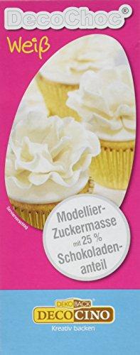 Dekoback Decocino DecoChoc weiß  - Modellier-Zuckermasse, 1er Pack (1 x 200 g)