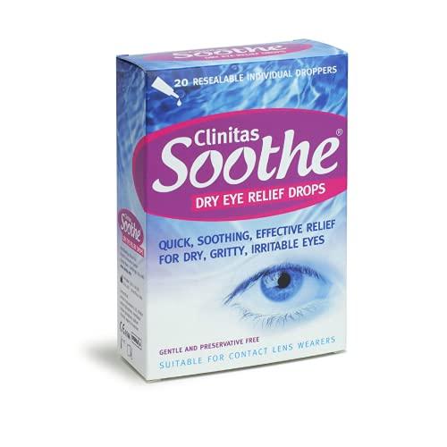 Clinitas Soothe Lubricant Eye Drops, 20 x 0.5 ml
