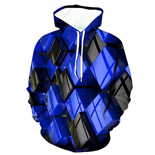 NIUQI Men's 3D Funny Jacket Long Sleeve Hooded Coat Hoodie Blouse Tops