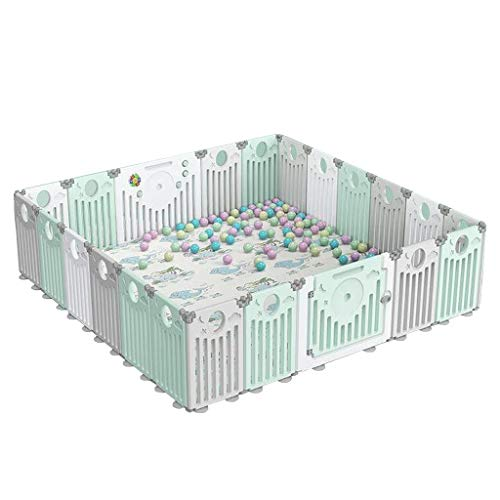 Affordable Foldable Kids Fence Playpen for Baby and Toddlers, Non-Slip Rubber Base,20+2 Panel Activi...
