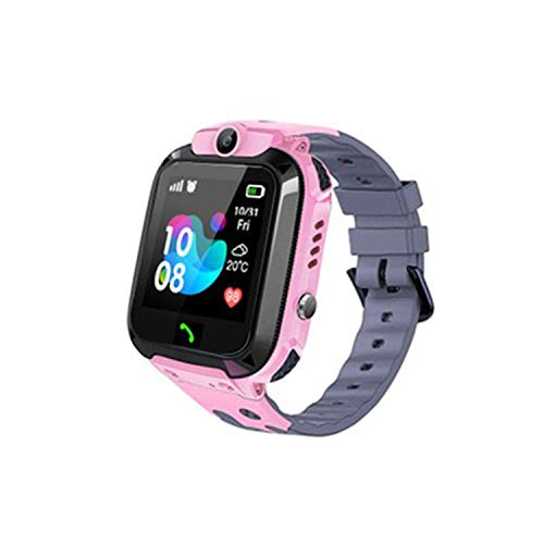 Waterproof Kids Smart Watch GPS Tracker - Boys Girls for 3-12 Year Old with SOS Camera Alarm Call Camera Alarm 1.44'' Touch Screen SOS Electronic Toy Birthday Gifts (Waterproof Pink)