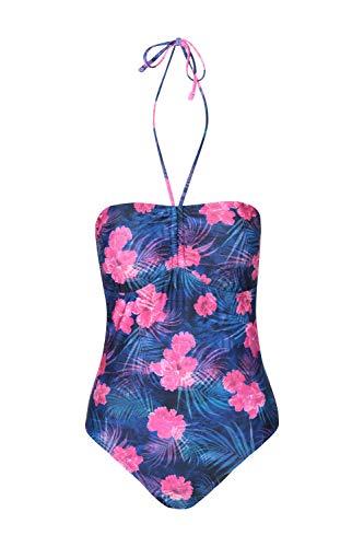 Mountain Warehouse Bournemouth Bandeau-Badeanzug für Damen - leichte Sommerbadebekleidung für Damen, schnelltrocknend, chlorbeständig - ideal für den Urlaub Rosa 38 DE (40 EU)