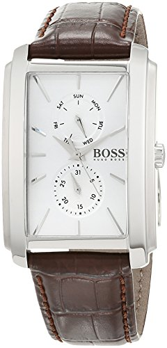 Hugo Boss Unisex Multi Zifferblatt Quarz Uhr mit Leder Armband 1513592