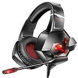 RUNMUS(ランマス) ゲーミングヘッドセット Xbox One用ヘッドセット PS4用ヘッドセット 7.1サラウンドサウンド ノイズキャンセリングマイク&LEDライト付き Xbox One (アダプターは付属しません) PS4 PC ノートパソコンに対応