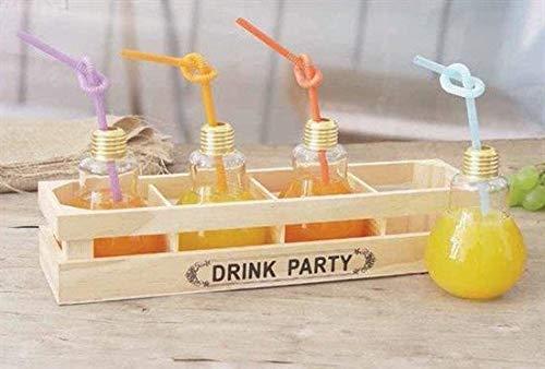 Master Haus Drink Party 4Gläser Leuchtmittel mit Tablett 62793.