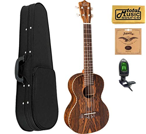 Oscar Schmidt OU9 Concert Ukulele Acoustic Bocate Wood w/Soft Case,Tuner,Strings & PC