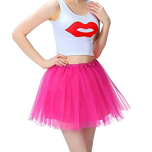 iMixCity Mujer Tutu Falda Tul Short Ballet 3 Capas Danza Ballet Tutu Pettiskirt Traje de Carnaval