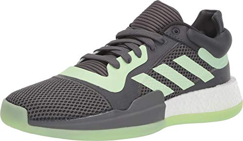 adidas Mens Marquee Boost Low, Carbon/Glow Green/Grey, 18 M US