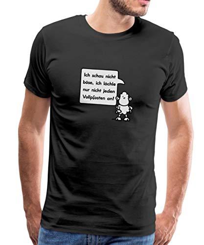 Sheepworld - Ich schau Nicht böse. Männer Premium T-Shirt, XL, Schwarz