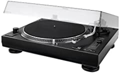 Dual DTJ 301.1 USB DJ Record Player (33/45 rpm, Pitch Control, Magnetic Pickup System, Needle Lighting, USB Cable) Zwart*