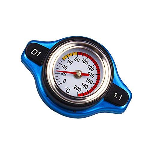 XJF Wassertank Kühlerdeckel, Auto Kleinkopf Thermostatdeckel Abdeckung Nenndruck W/Wassertemperaturanzeigeuniversal Thermo Deckel (1,1 bar)