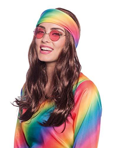 Folat 26843 pruik met hippie hoofdband carnaval fastnacht