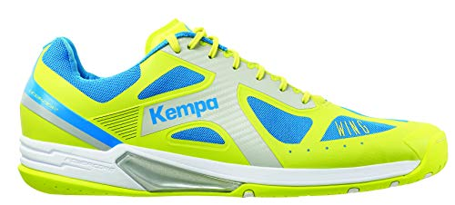 Kempa Wing Lite, Chaussures de Handball Homme, Jaune (Jaune Spring/Bleu Cendré), 49 EU
