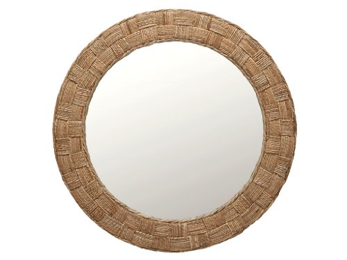KOUBOO Round Rope Wall Mirror, Chequered