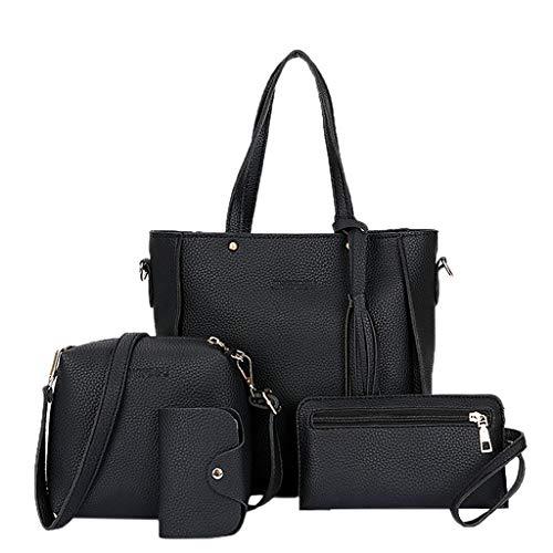 SHAOKAO Juego de 4 bolsas de hombro para mujer