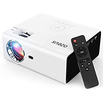 AZEUS Ture 6000 Lux Mini Projector Support 1080P and up to 200   Display Compatible with HDMI PS4 VGA AV USB Laptop Phone TV Box [2021 Upgrade Model]