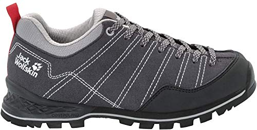 Jack Wolfskin Damen Scrambler Low W 4036671 Walking-Schuh, Phantom/Light Grey, 38 EU
