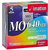 OD3-640SCLWX5 3.5型MO 640MB Win/DOSフォーマット5枚入(5色ミックス)