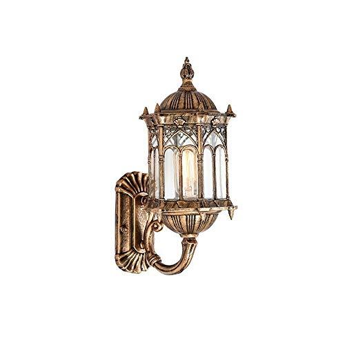 MUTANG Lampe de Mur extérieure, Porche de Jardin de Style européen rétro-éclairé, Couloir Noir E27, luminaires Suspendus Vintage étanches IP65 pour Balcon, Patio, Jardin, luminaire