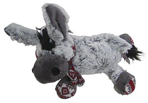 Chamier lamsvachtproducten schattig superzacht knuffeldier ezel met sjaal van microvezel, volledig wasbaar op 30 graden, lengte ca. 30 cm.